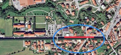 Saluzzo, area interessata dai lavori di via Cuneo. Immagine tratta dal sito del Comune di Saluzzo
