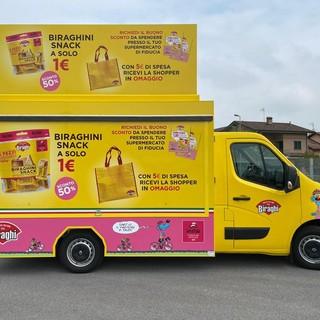 Il truck brandizzato Biraghi