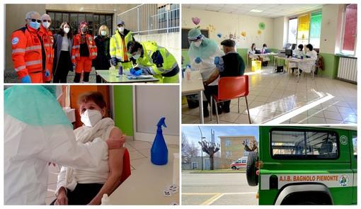 Il centro vaccinale aperto stamane a Bagnolo Piemonte