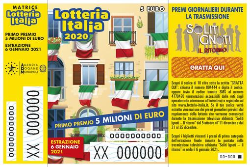 Il biglietto della Lotteria Italia 2021