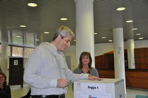 Federico Borgna al voto provinciale nel 2014