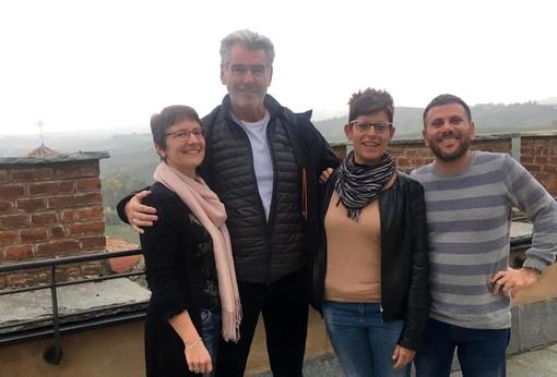 L'attore di origini irlandesi con la direttrice del WiMu Alessandra Muratore e le guide
