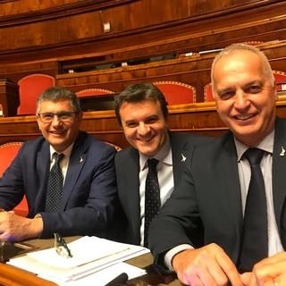 Da destra il senatore Giorgio Maria Bergesio con l'ex ministro delle Politiche Agricole Centinaio