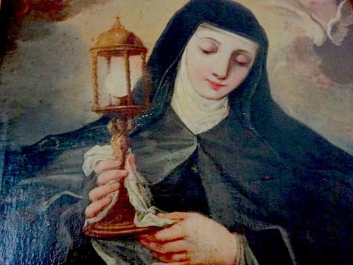 Il dipinto di Santa Chiara, conservato presso il Monastero delle Sorelle Clarisse di Bra
