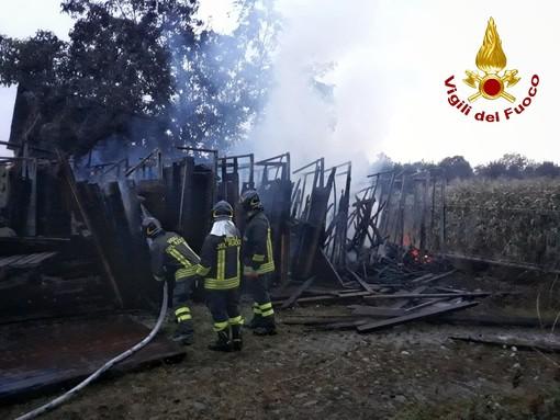 L'intervento dei Vigili del fuoco a Boves