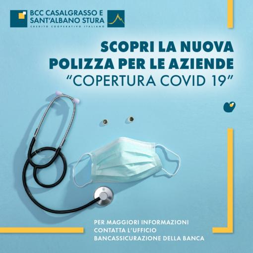 """La Bcc di Casalgrasso e Sant'Albano Stura propone la nuova polizza """"Copertura Covid-19"""""""