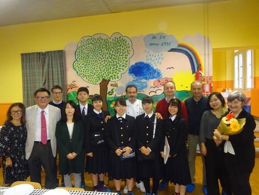 Alcuni momenti della visita tenutasi questa mattina presso la mensa scolastica braidese