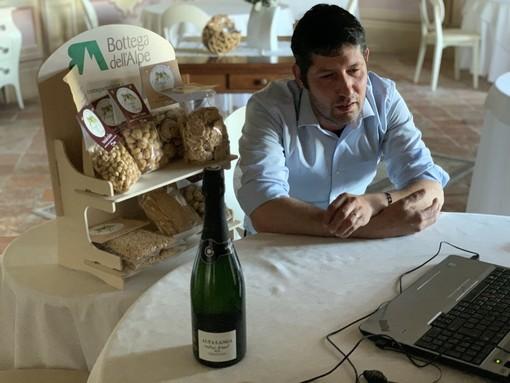 """Lo chef Stefano Paganini durante il primo incontro online di """"Bottega incontra"""""""