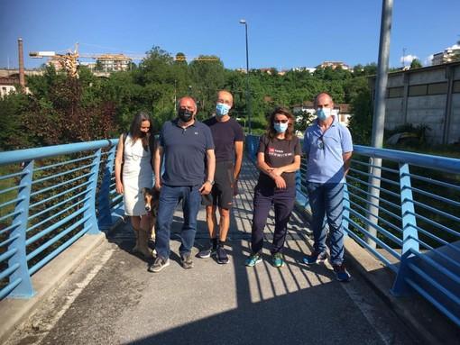 Cuneo: affissione dei manifesti elettorali e sopralluogo alle Basse di Sant'Anna per Giancarlo Boselli