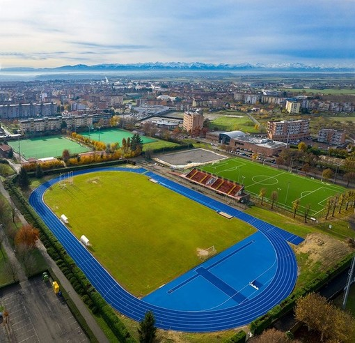 Il complesso sportivo di viale Madonna dei Fiori in uno scatto di Tino Gerbaldo