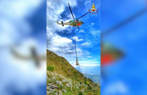 L'intervento dell'elicottero Drago 121