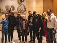 La band salentina in sala Fenoglio col vicesindaco Emanuele Bolla