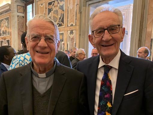 Beppe Ghisolfi con padre Federico Lombardi