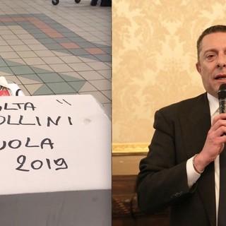 La raccolta punti a favore delle scuole in una struttura della Grande Distribuzione e il presidente provinciale di Confcommercio, Luca Chiapella