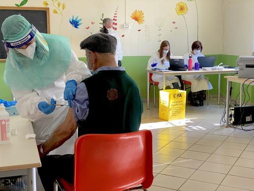 Le prime vaccinazioni a Bagnolo Piemonte