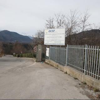 L'ingresso all'attuale impianto dell'Acsr di Borgo San Dalmazzo