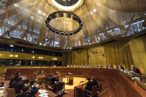 Un'udienza della Corte di Giustizia Europea (Ph. curia.europa.eu)