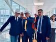 Il direttore generale dell'Asl Cn2, dottor Massimo Veglio, con il governatore Cirio e l'assessore Icardi