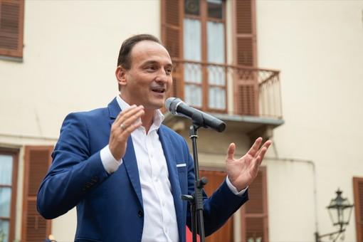 L'intervento del governatore durante la cerimonia tenuta stamattina a Bra (Foto Paolo Properzi - Slow Food)