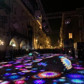 Le luci accese poco fa a Cuneo