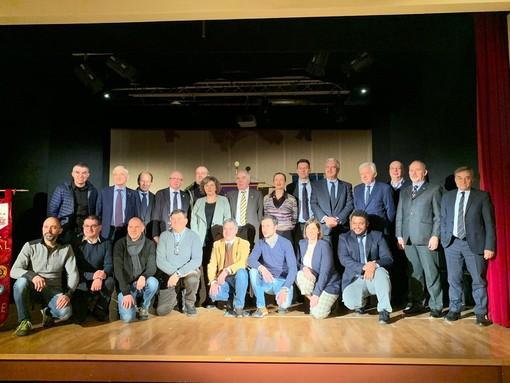 Foto di gruppo per i relatori del convegno sulla Nocciola dello scorso 7 dicembre a Cortemilia