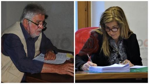 L'ex sindaco Beoletto e la dottoressa Mazzotta
