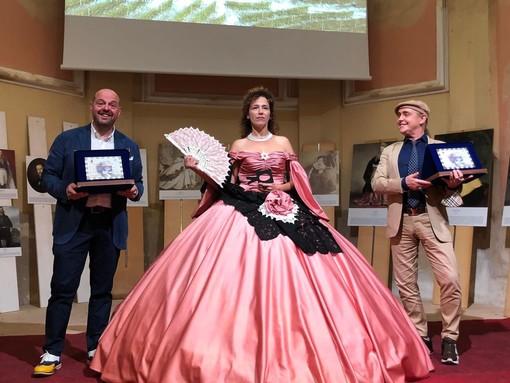 Da sinistra Fabio Gallina, la contessa di Castiglione interpretata da Alessia Porani e Gabriele Galotti