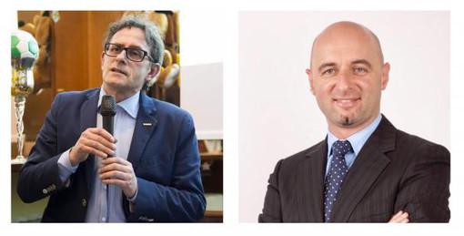 Gli albesi Ivano Martinetti, a sinistra, e Mario Canova: il primo è consigliere regionale; il secondo è stato da poco nominato nel Cda dell'Atc Piemonte Sud
