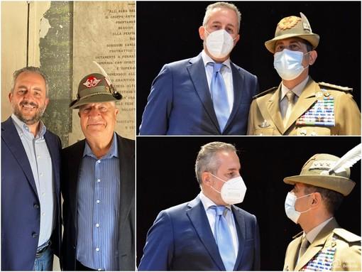 Giacomo Verda e Giovanni Damiano con il Generale Francesco Figliuolo