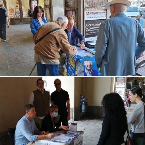 La raccolta firme a Cuneo