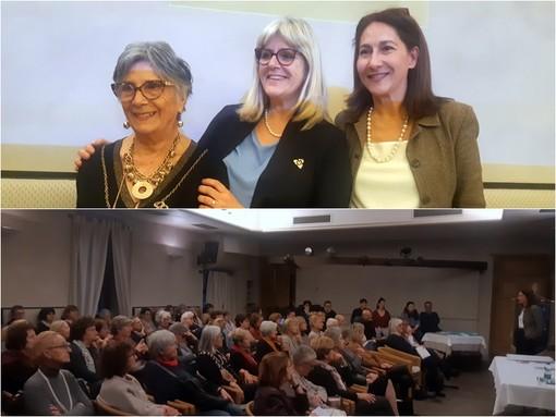La presidente Fidapa Marisa Gullino e a destra la giornalista  italo-iraniana Farian Sabahi