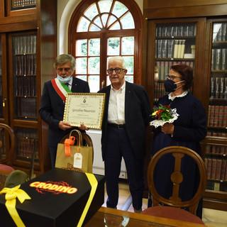 Il conferimento della cittadinanza onoraria nella sede del Centro Studi Ginocchi, presieduto da Marco Mantovani - foto Moreno Nicoloso