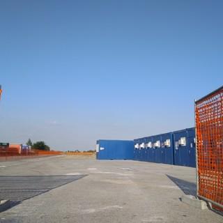 Il cantiere in frazione Ronchi di Cuneo
