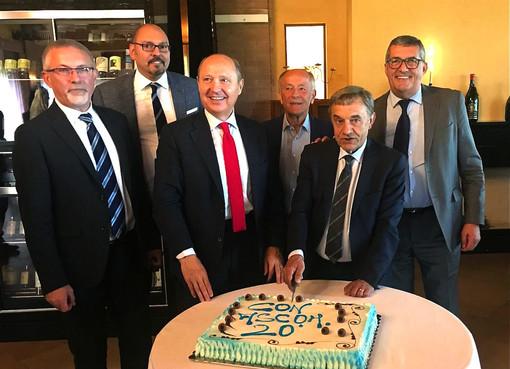 In foto, il simbolico taglio della torta, con, da sinistra: Zotti, Leonori, Tonelli, Belotti, Viglione, Marcolin. Nell'immagine non compare il consigliere Bernardi