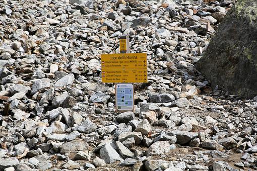 Il primo tratto del sentiero che porta al rifugio Genova
