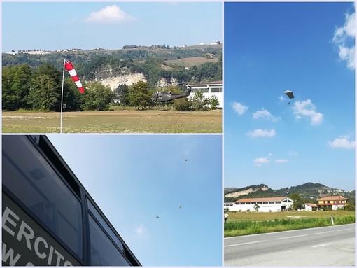 Ceva: tutti con il naso all'insù per gli alpini paracadutisti (VIDEO)