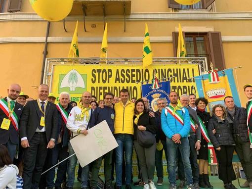 La manifestazione davanti a Montecitorio