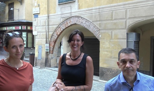 Da sinistra Ilaria Boetti, Alessandra Fissolo e Corrado Caviglia