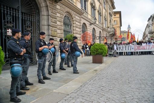 La manifestazione a Cuneo