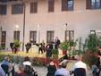 Il sindaco castagnitese Carlo Porro presenta il quartetto d'archi Le Arti Riflesse