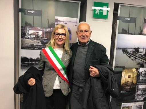 Luigi Ciriotti, qui col vicesindaco Laura Capra