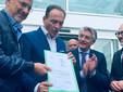 Un'immagine dell'autunno scorso: il governatore Cirio, l'assessore Icardi e il sindaco Bo annunciano la dichiarazione di fine lavori del nuovo presidio