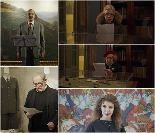 Gli attori del Teatro del Marchesato, Mauro Bocci, Valerio Dell'Anna, Tiziana Rimondotto, Pia Ghigo, Chiara Miolano