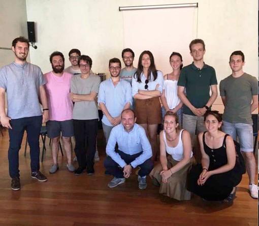 Alcuni rappresentanti della Consulta con l'assessore comunale di Cuneo alle Politiche giovanili, Domenico Giraudo