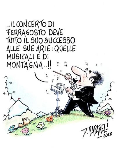 Il concerto di Ferragosto e le sue arie di montagna...