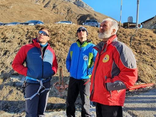 Massimiliano Ossini a Pian della Regina di Crissolo con Guide alpine e Soccorso alpino