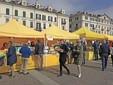 Un mercato di Campagna Amica in piazza Galimberti a Cuneo