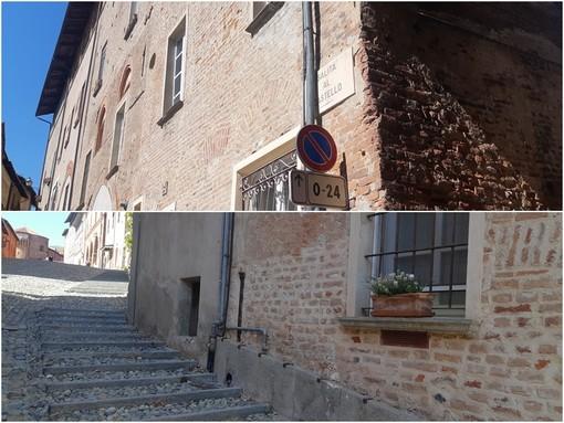 Saluzzo, il nuovo divieto di sosta nella parte bassa di Salita al Castello