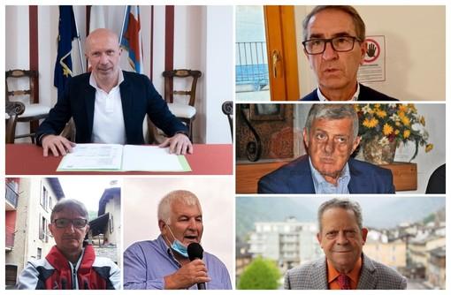Il presidente Dovetta e i sindaci Ellena, Fina, Allasina, Dadone e Amorisco