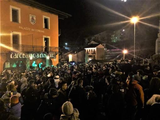 """Alcuni immagini del """"Capodanno in piazza"""" a Crissolo"""